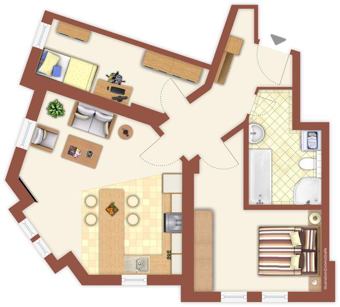 Grundriss Wohnung 9